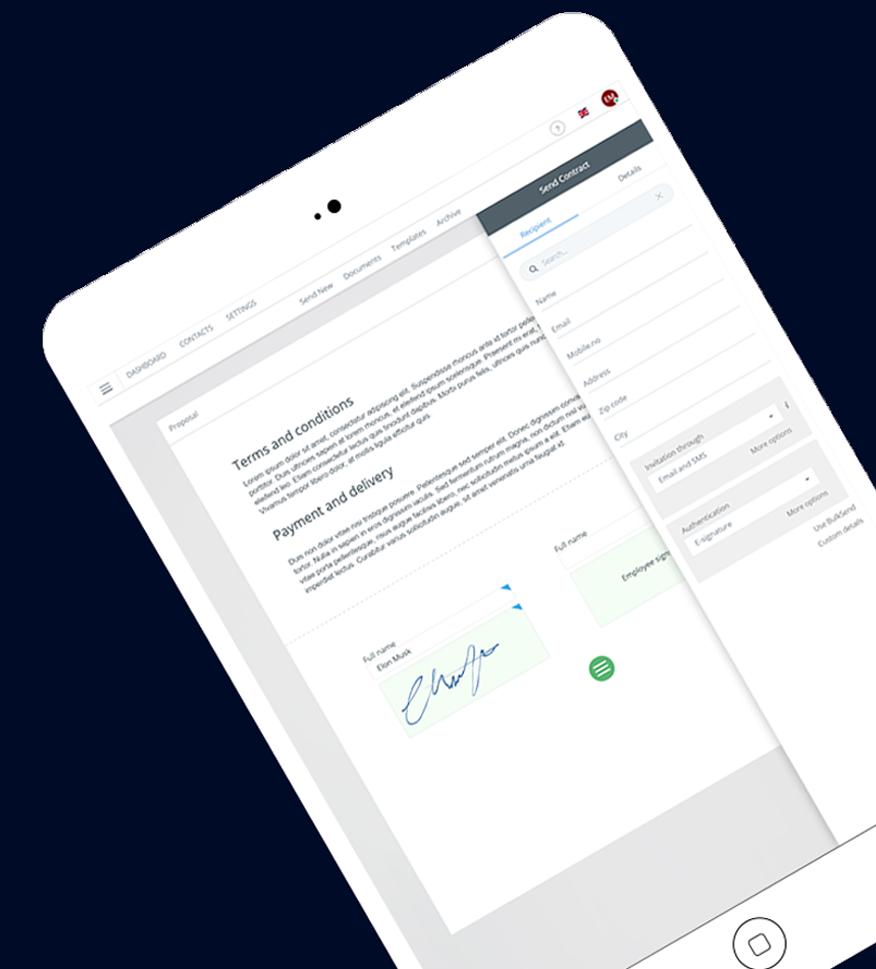Skicka, Signera & Spåra dina avtal digitalt - Professionell avtalshantering för hela företaget